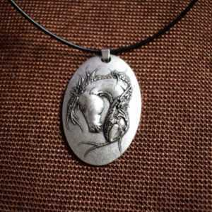 Antique Style Horse Necklace for Men  Mens Necklaces