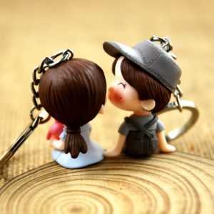 Doll Keychain Choose From 15 Cool Designs.  Couple Keychain