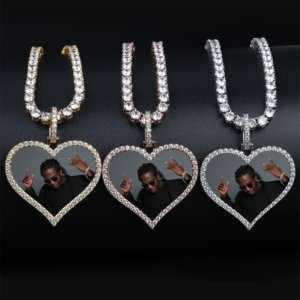 Custom Made Your Photo Heart Pendant Necklace  Custom Chains