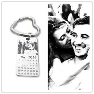 Personalized Photo Calendar Keychain – Stainless Steel Key Tags  Personalized Keychains