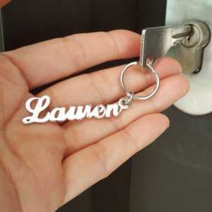 4 Colors Stainless Steel Custom Nameplate Keychain  Personalized Keychains