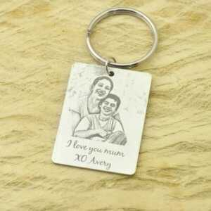 Custom Photo Keychain Gift for Her/Him