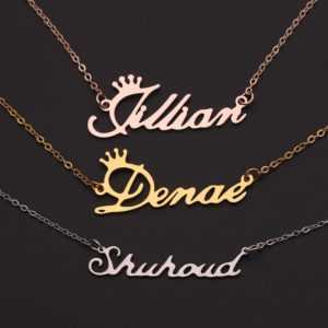 Personalized Stainless Steel Nameplate Necklace  Personalized Necklaces