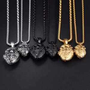 Anatomically Correct Heart Necklace In Stainless Steel Gold, Black, Silver