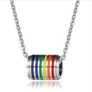 Rainbow Necklace Gay and Lesbian Pendant Necklace  LGBT Jewelry