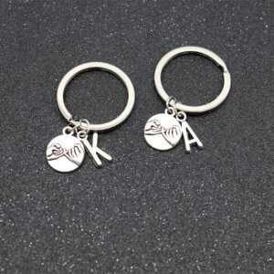 Friendship Keychains - A To Z Letter with Handheld Keychain