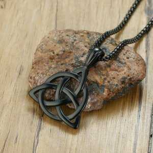 The Triquetra Or The Trinity Knot Pendant Necklace in Stainless Steel