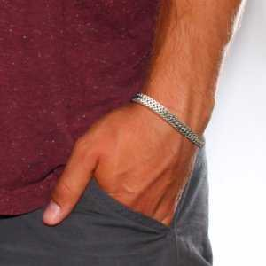 Double Link Chain Bracelets for Men – Black Gold Silver Color  Mens Bracelets