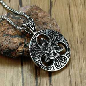 Triquetra The Celtic Trinity Knot and Satanic Pendant Necklace  Mens Necklaces Viking Necklace