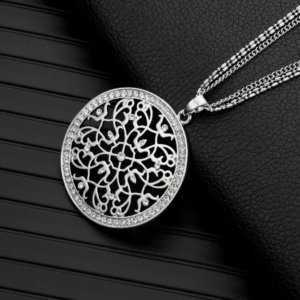 Flower of Life Crystal Pendant Necklaces Long Chains  Women's Necklaces