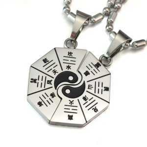Yin Yang Couple Pendant Necklace Free Chain  Couple Necklaces