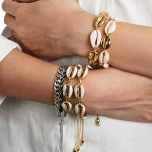 Gold Color Cowrie Shell Bracelets for Women Delicate Rope Chain  Jewelry Bracelets Shell Bracelets Women's Bracelets